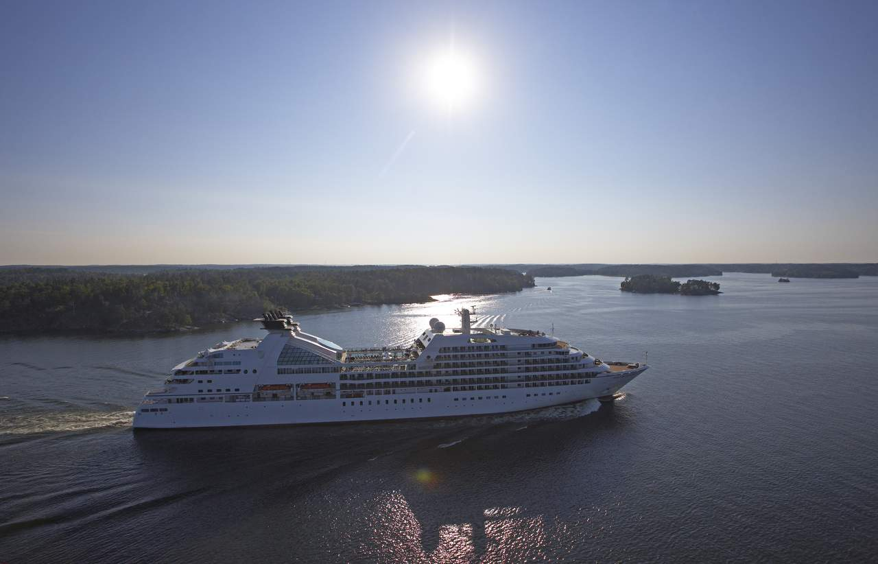 Cruise ship in Stockholm